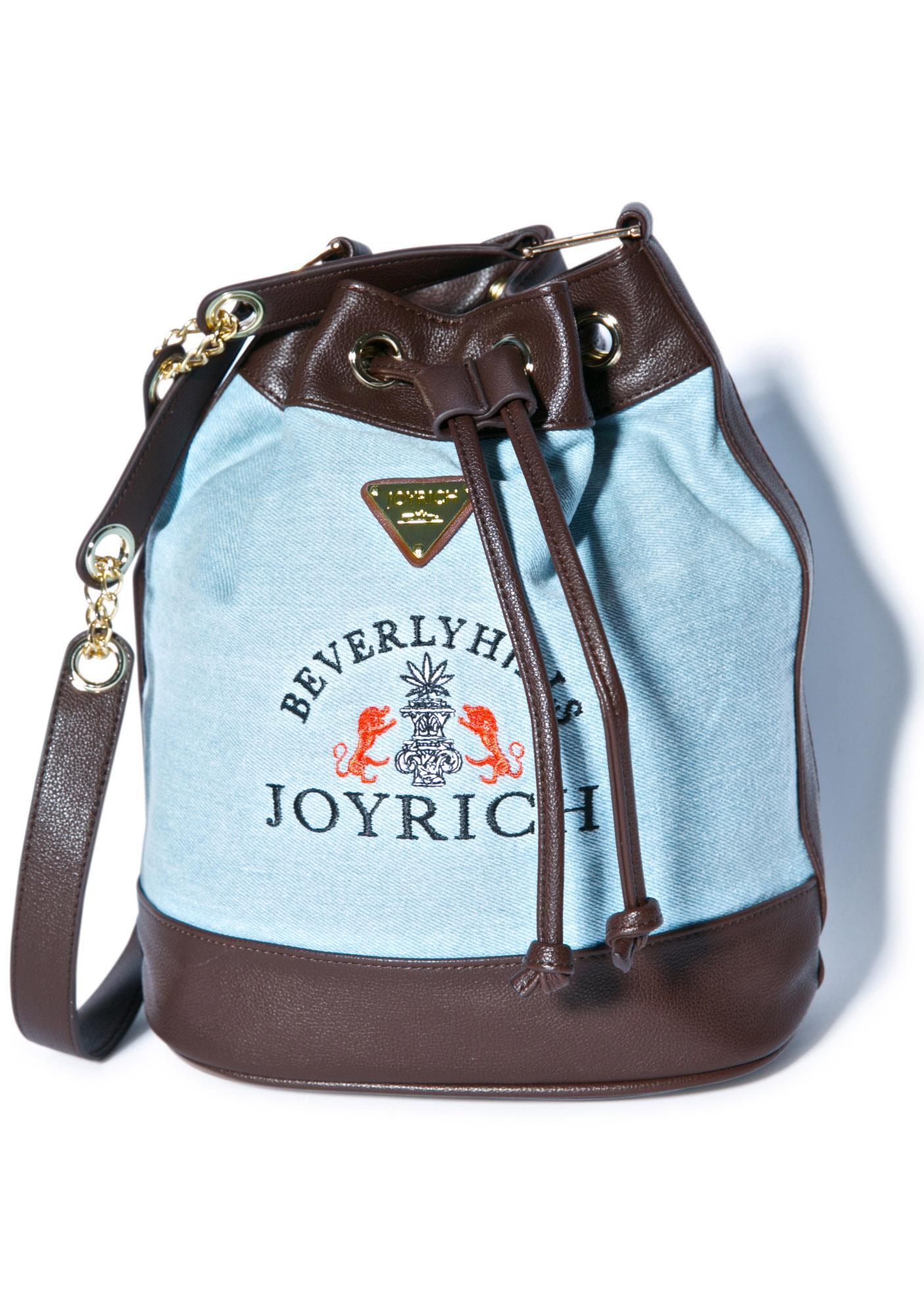 Joyrich High Beverly Hills Denim Bucket Bag