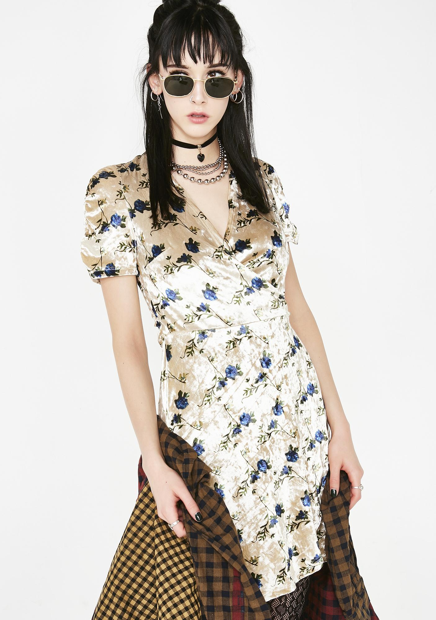 Current Mood Good Intentionz Wrap Dress