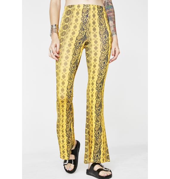 Sunny Haze Printed Pants