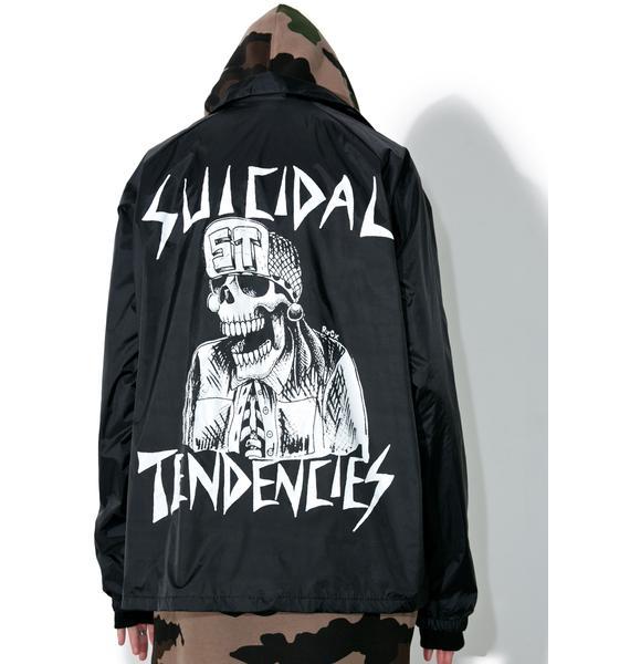 Suicidal Tendencies Goth OG Flipskull Windbreaker