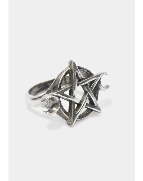 Goddess Pentagram Ring