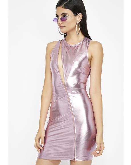 Cosmic Playland Metallic Dress