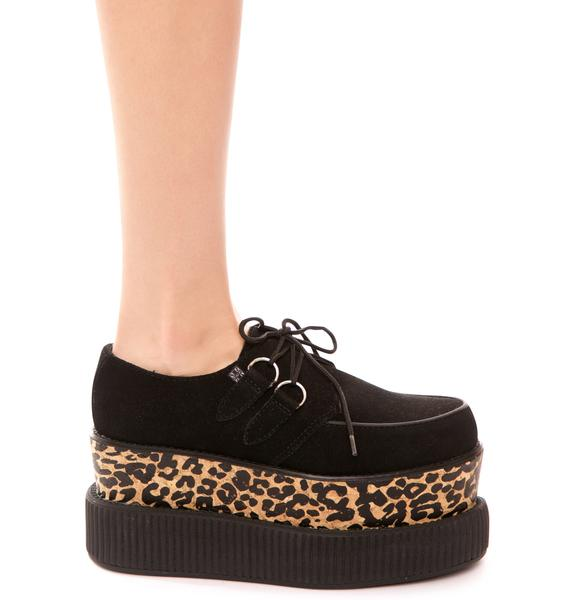 T.U.K. Double Stacked Suede Viva Mondo Creeper