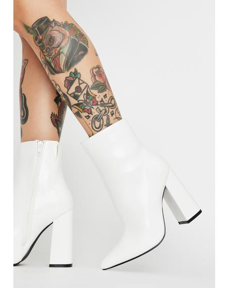 Frosty Drama Mama Ankle Boots