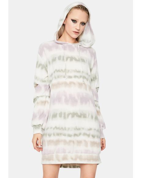 Wind It Back Tie Dye Hoodie Dress