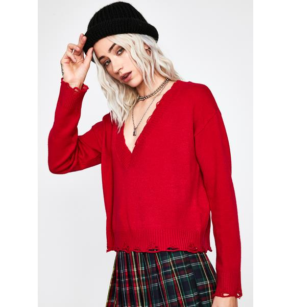 Lit Unfinished Business Knit Sweater