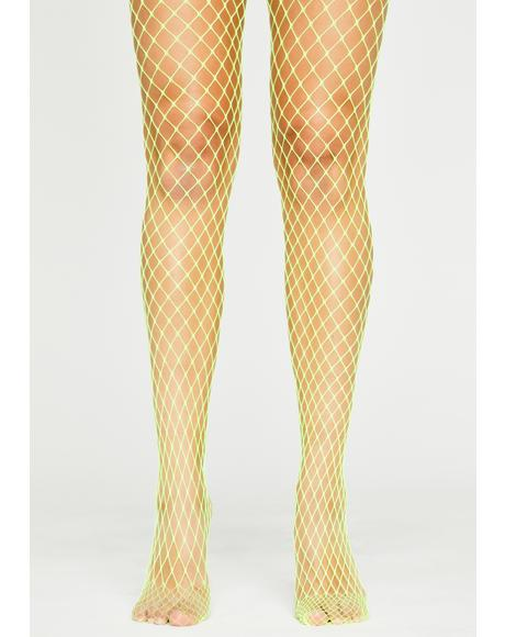 Sunshine Slay Queen Fishnet Tights