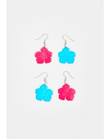 Beach Blossom Earring Set