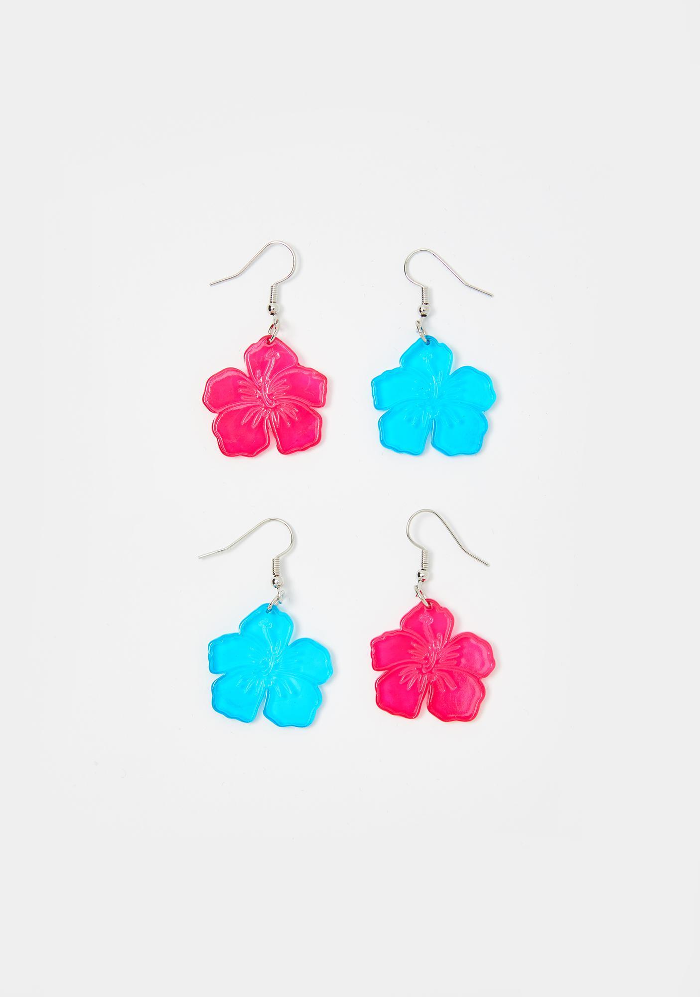 Beach Blossom Earring Set