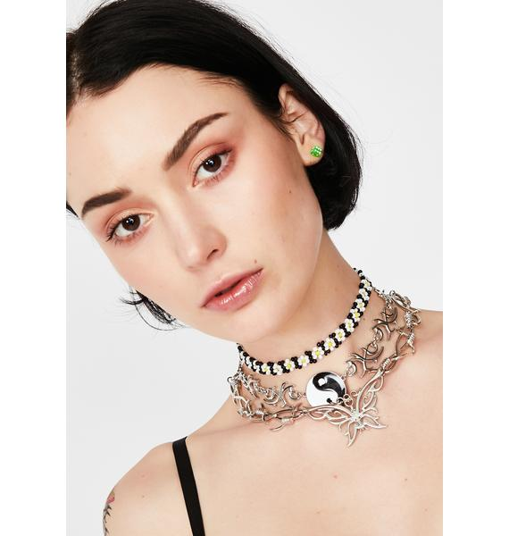 Flower Power Beaded Choker