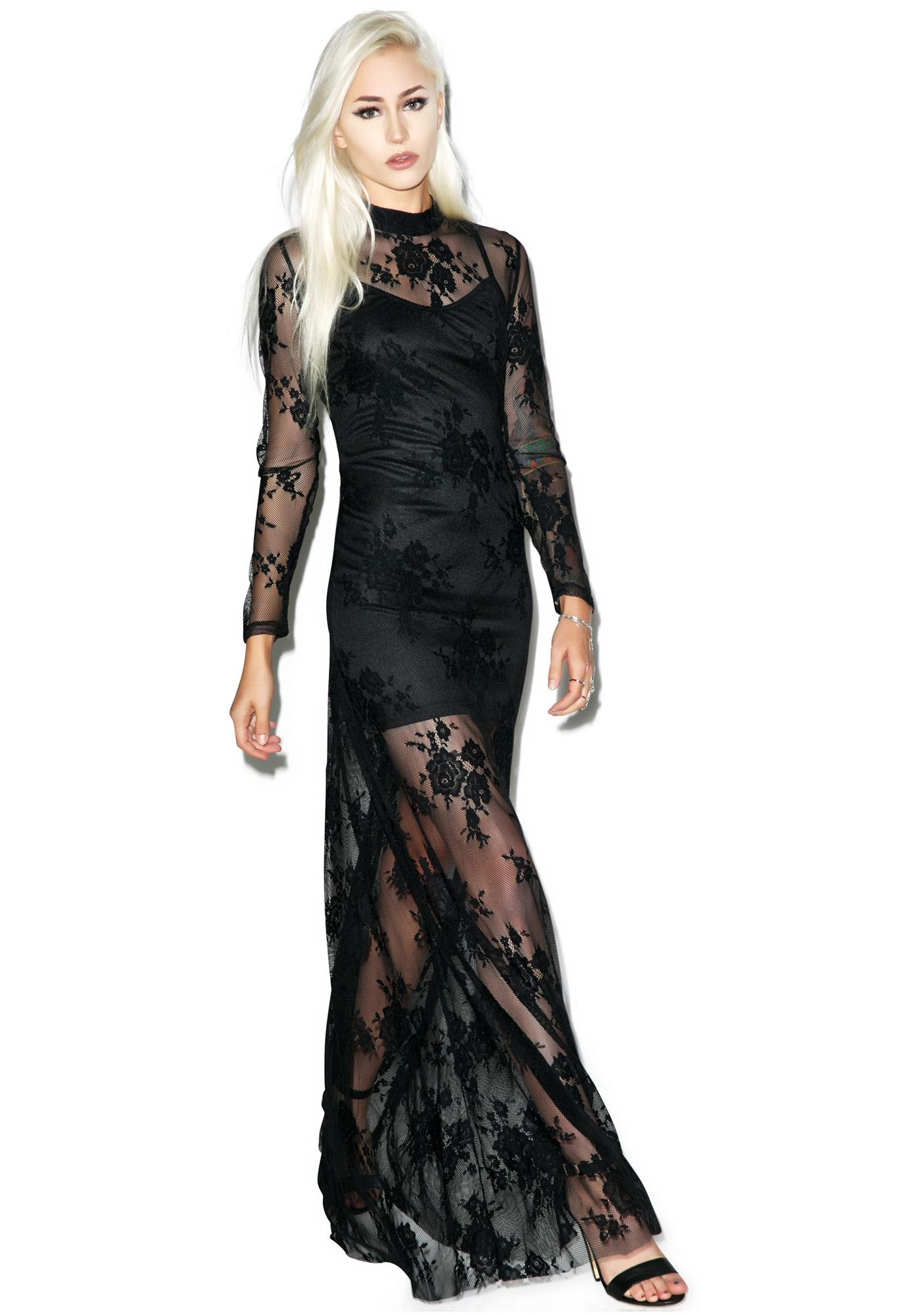 Glamorous Queen Of The Damned Maxi Dress