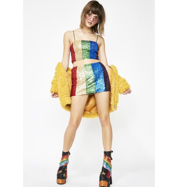 Retro Brilliance Sequin Skirt