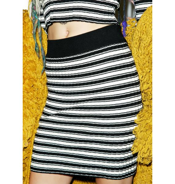 For Love & Lemons Back To Basics Stripe Mini Skirt