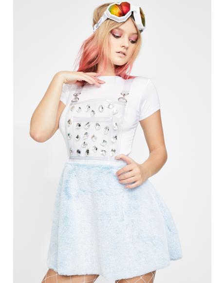 Diamond Gurl Clear Overall Dress