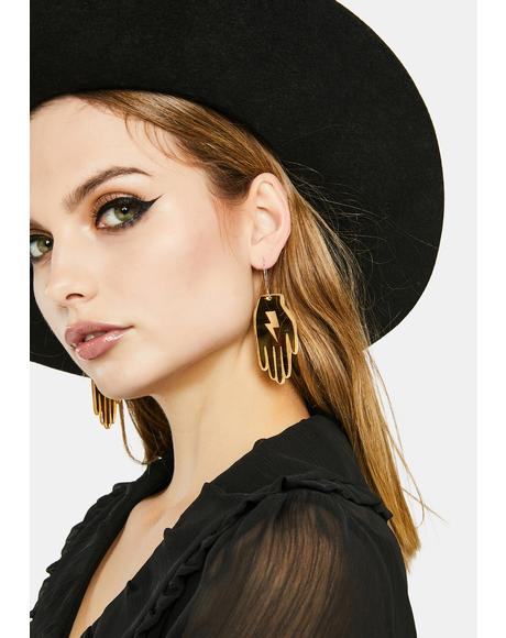 Bianca Bolt And Star Hand Earring Set