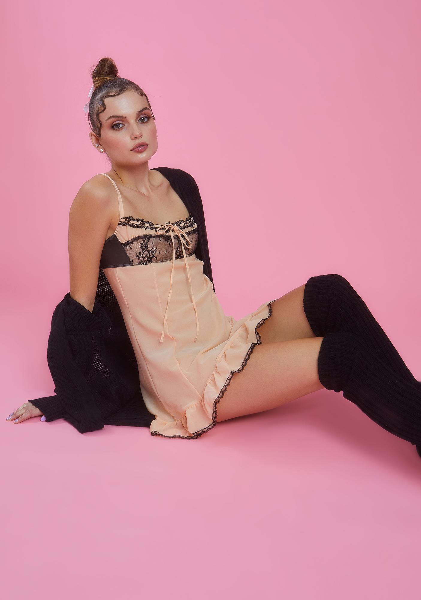 Sugar Thrillz Routinely Perfect Chiffon Babydoll Dress