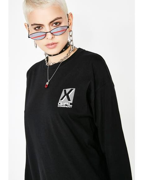 X-Girl Company Long Sleeve Tee