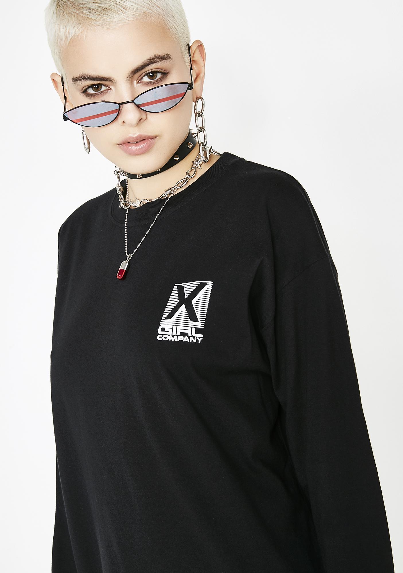 x-Girl X-Girl Company Long Sleeve Tee