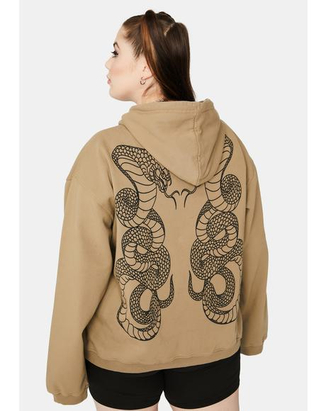 Curve Double Cobra Snake Hoodie
