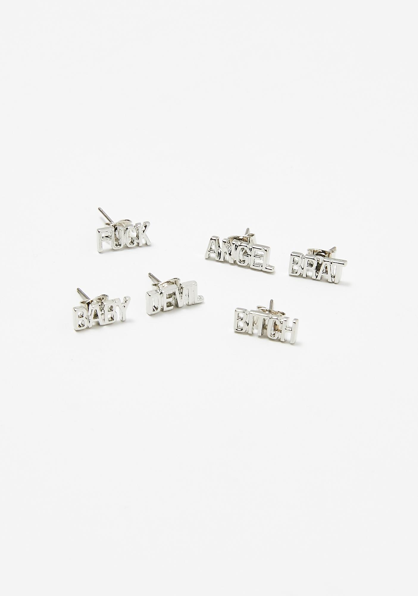 Stolen Identity Stud Earrings Set
