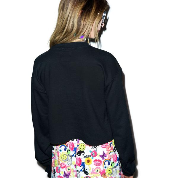 Petals and Peacocks Boring Crop Sweatshirt