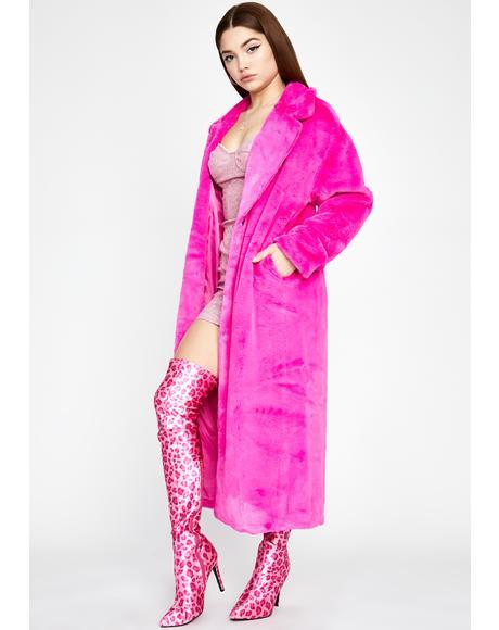 Socialite Status Faux Fur Coat