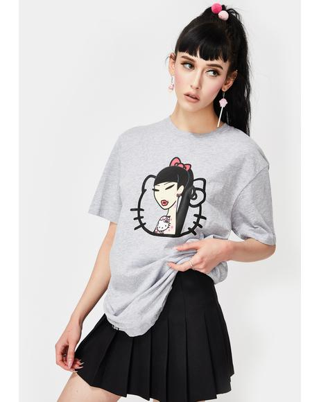 X Hello Kitty Hello Tattoo Graphic Tee