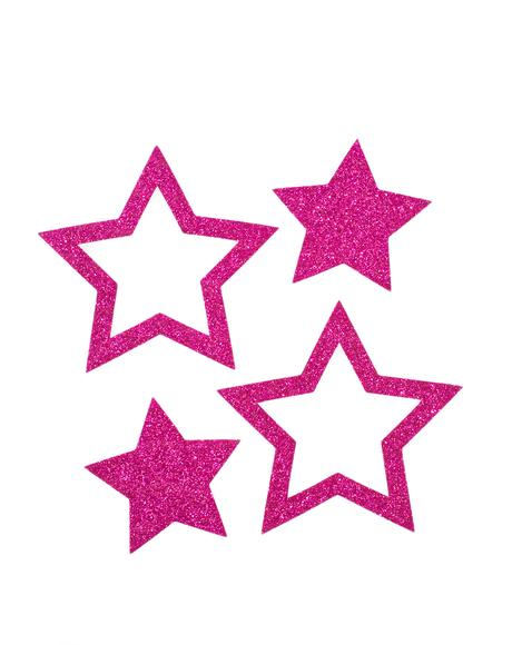 Hot Pink Glitter Star Pasties