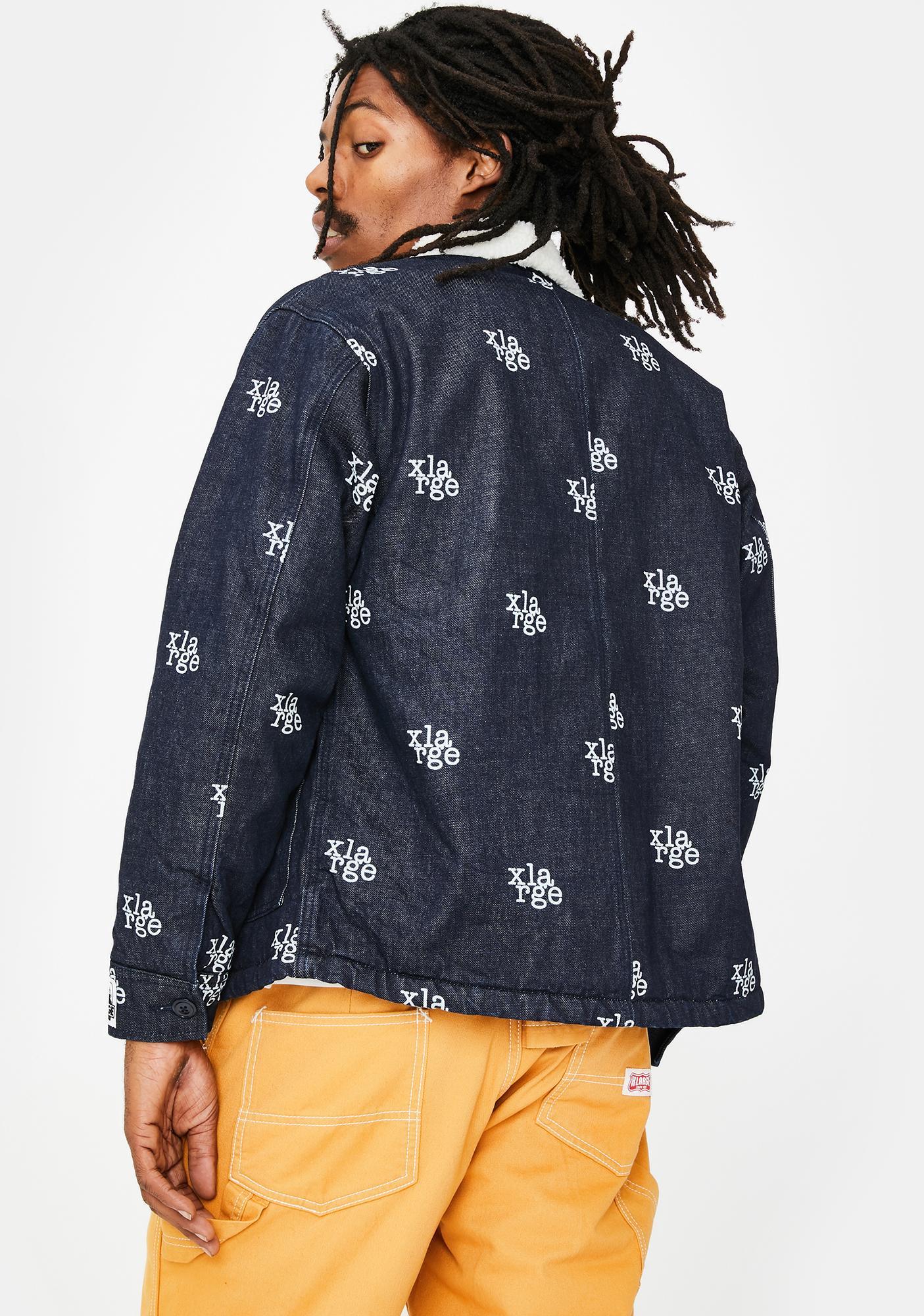 XLARGE Logo Denim Boa Jacket