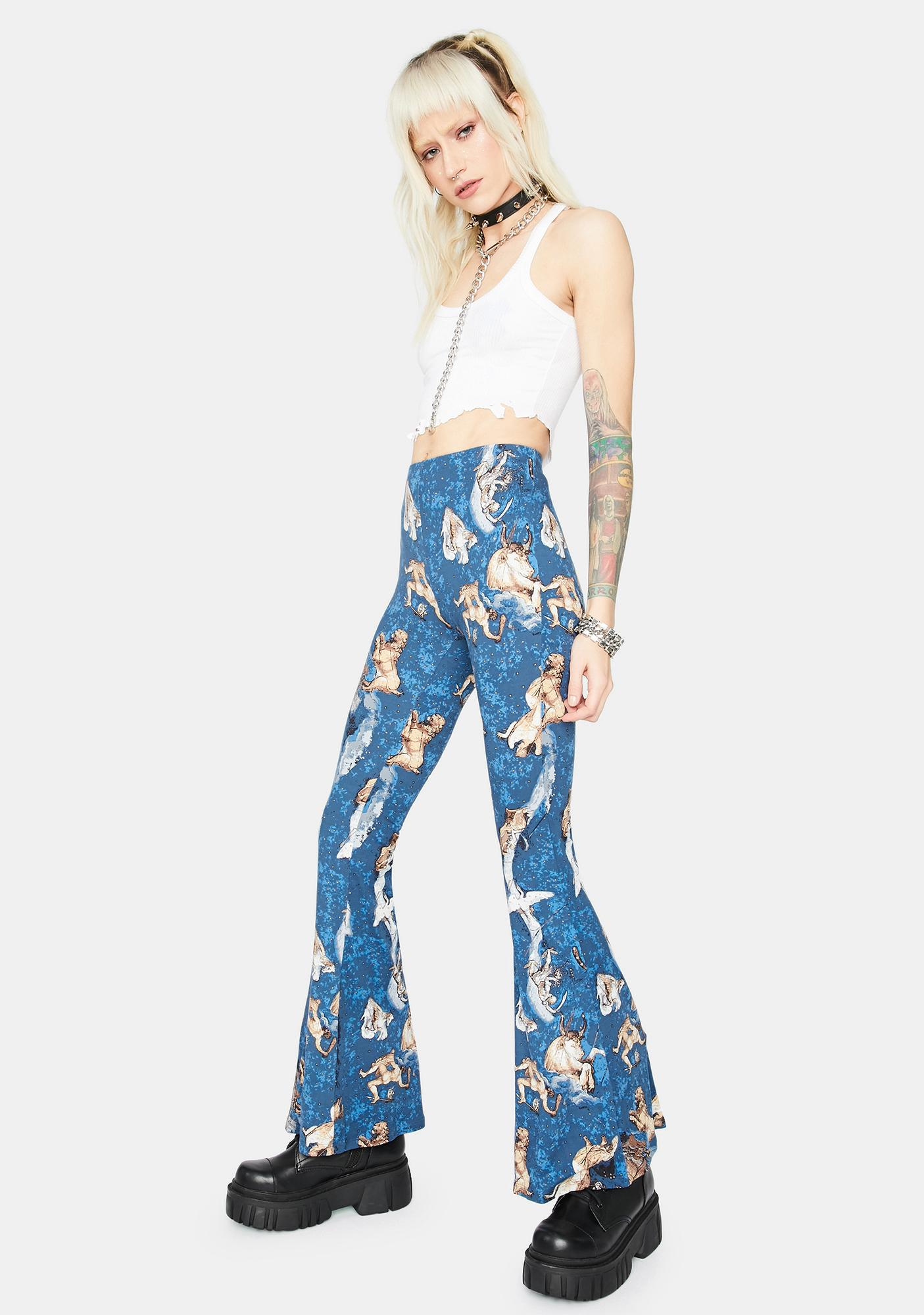 Sign Me Up Astrology Flare Pants