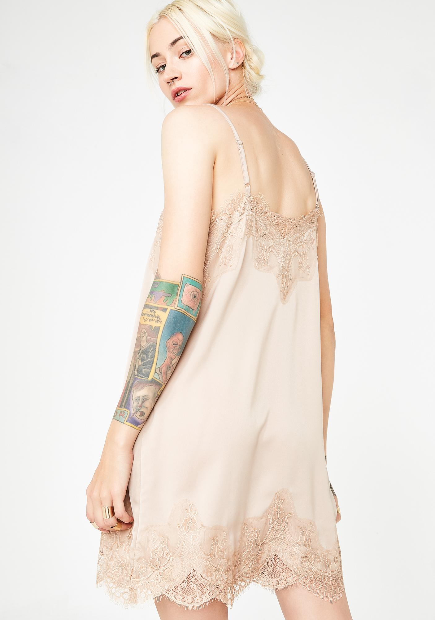 Mocha Minefield Slip Dress