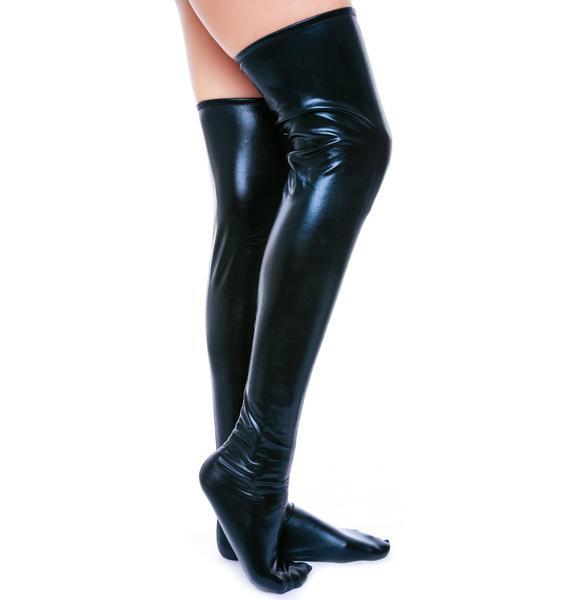 So Slick n' Wet Knee Socks