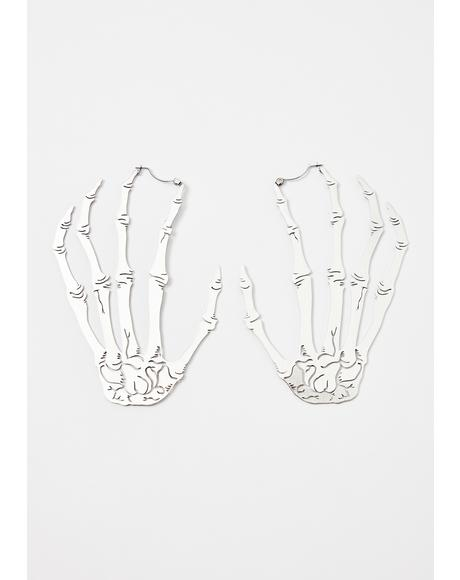 Skull Hand Earrings