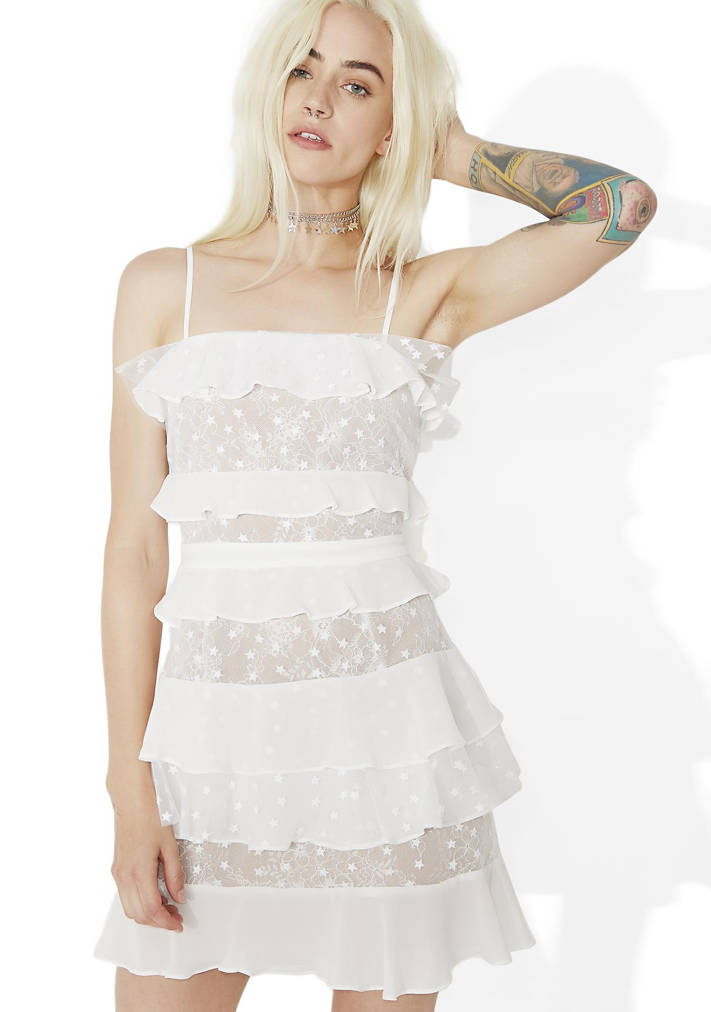 bb48e83495eb For Love   Lemons Cosmic Tiered Lace Dress