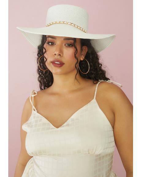 Blanc Sweet Sunshine Floppy Straw Hat