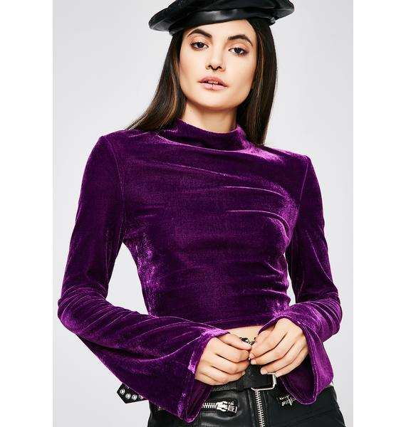 Purple Haze Velvet Top