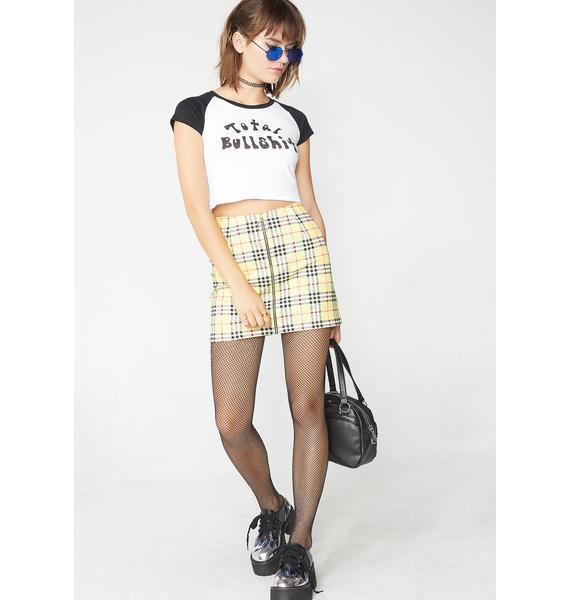 Motel Plaid Ring Skirt