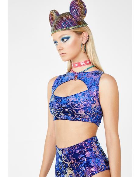 Royal Prism Sequin Top
