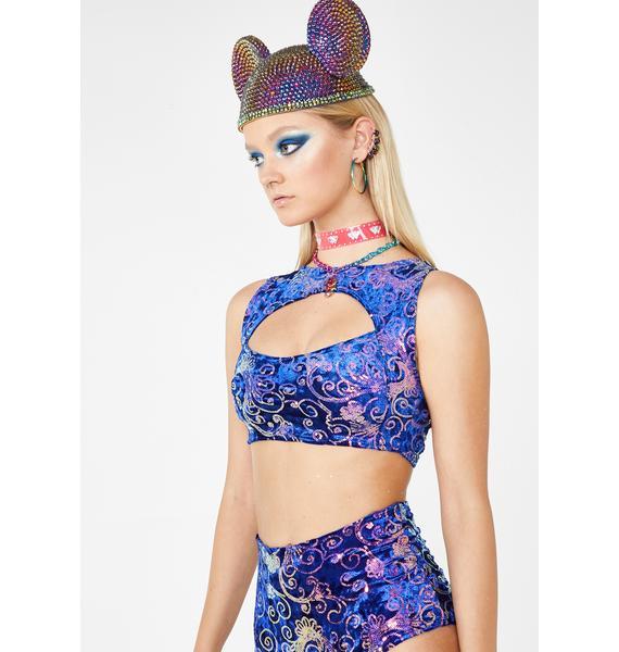 J Valentine Royal Prism Sequin Top