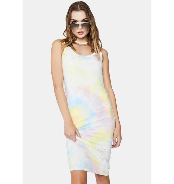 Re Named Molly Tie Dye Maxi Dress
