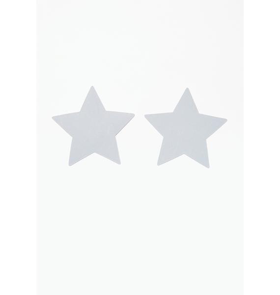 Neva Nude Reflective Star Pasties