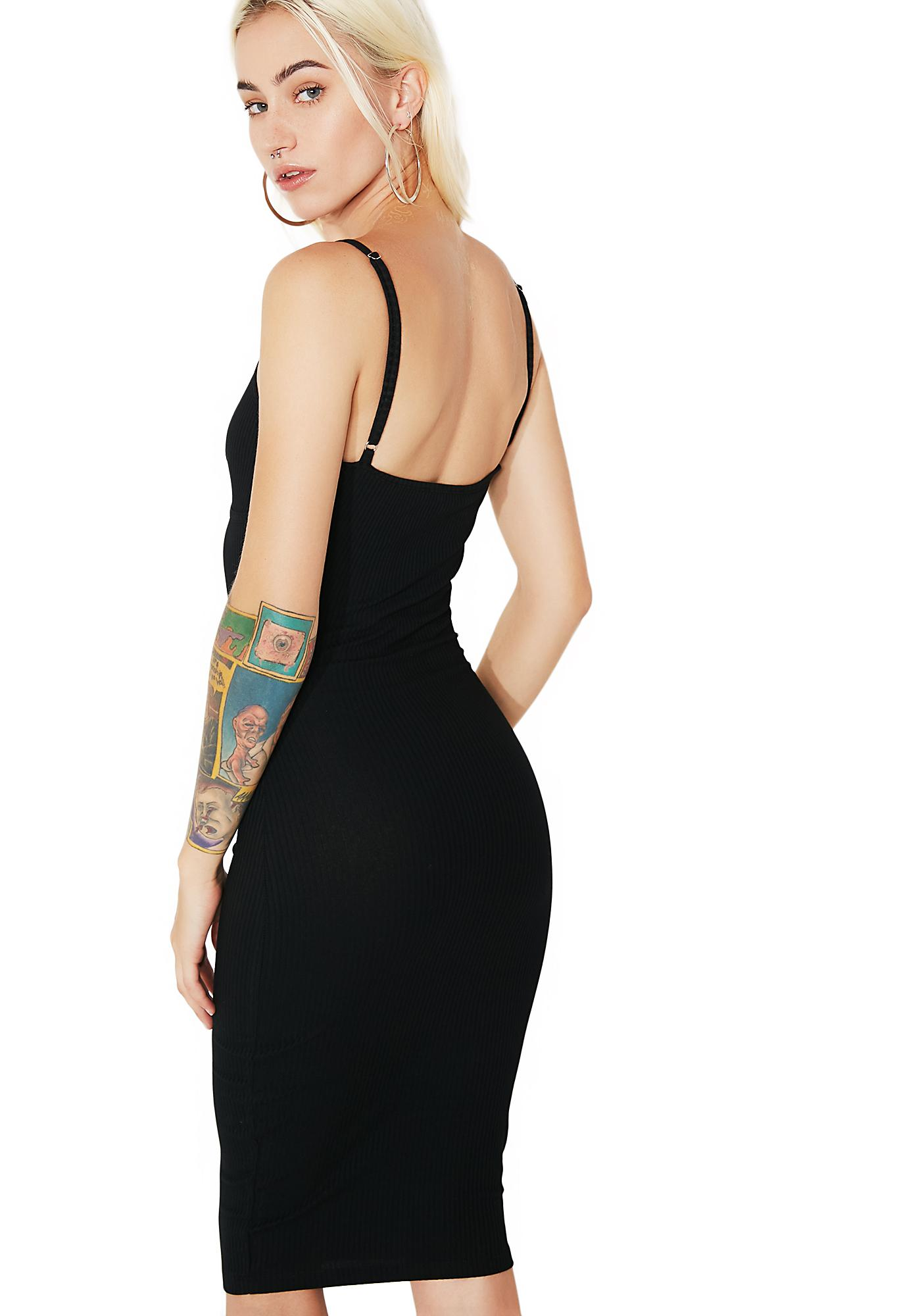 On My Grind Bodycon Midi Dress