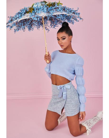 Sky Miss Charming Knit Sweater