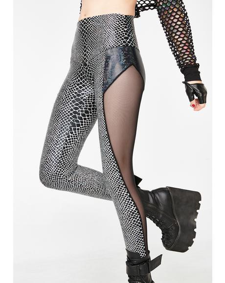 Holographic Python Leggings