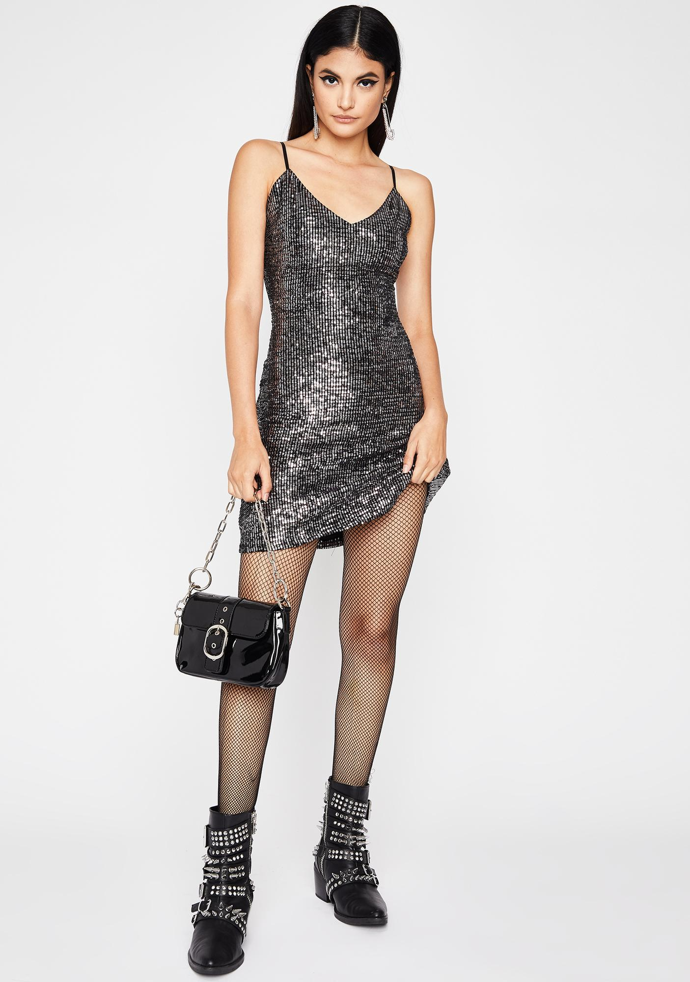 Own The Club Sequin Dress