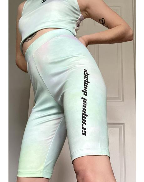 Tie Dye Logo Biker Shorts