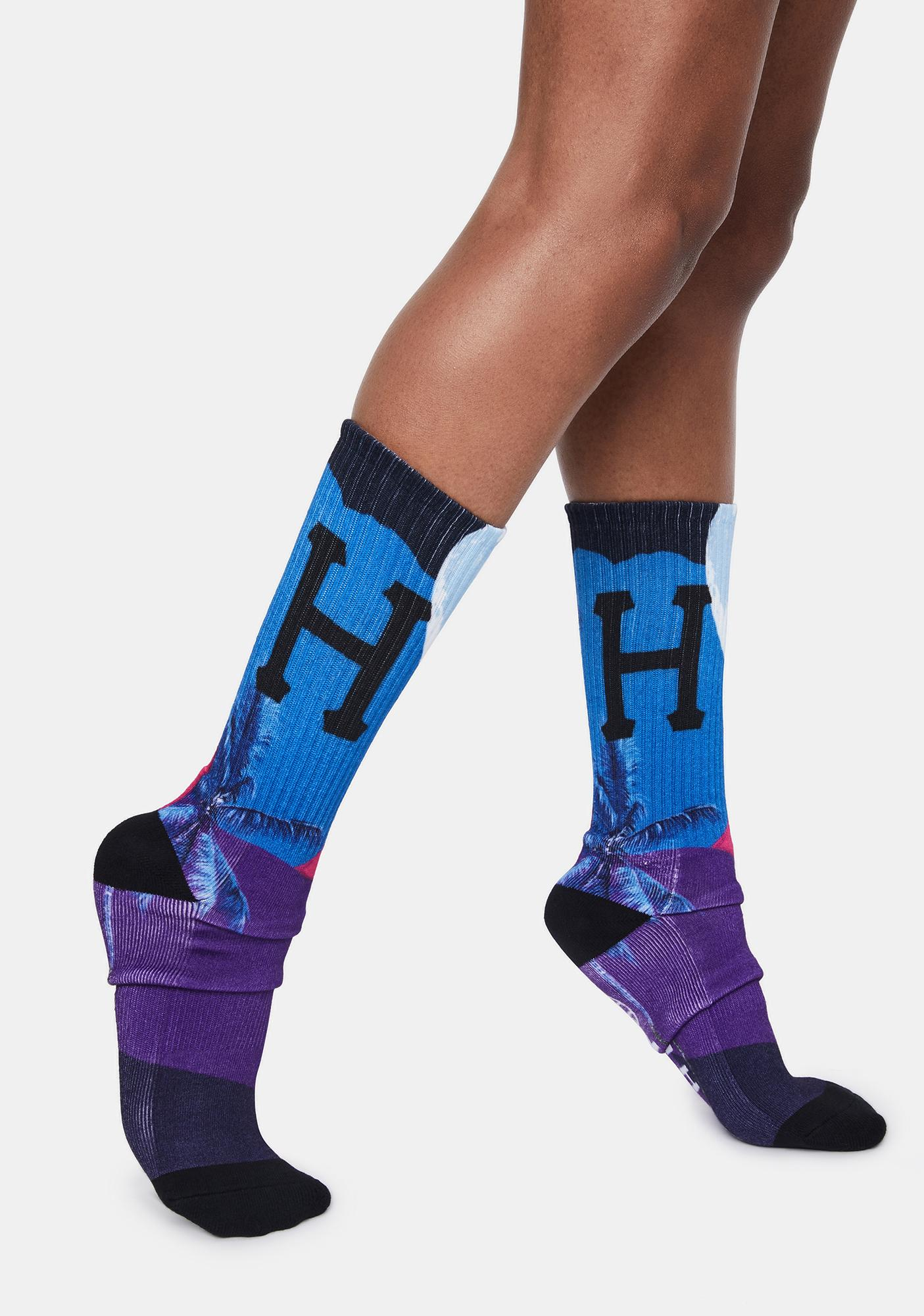HUF Grape Mirage Crew Socks