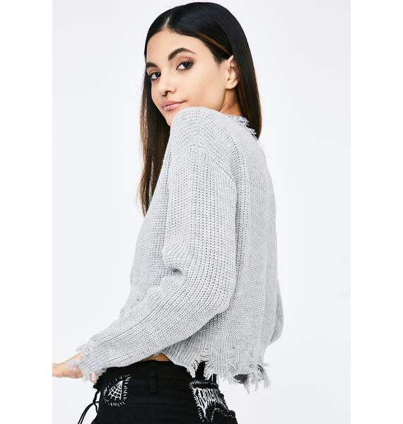 No Priorities Cropped Sweater