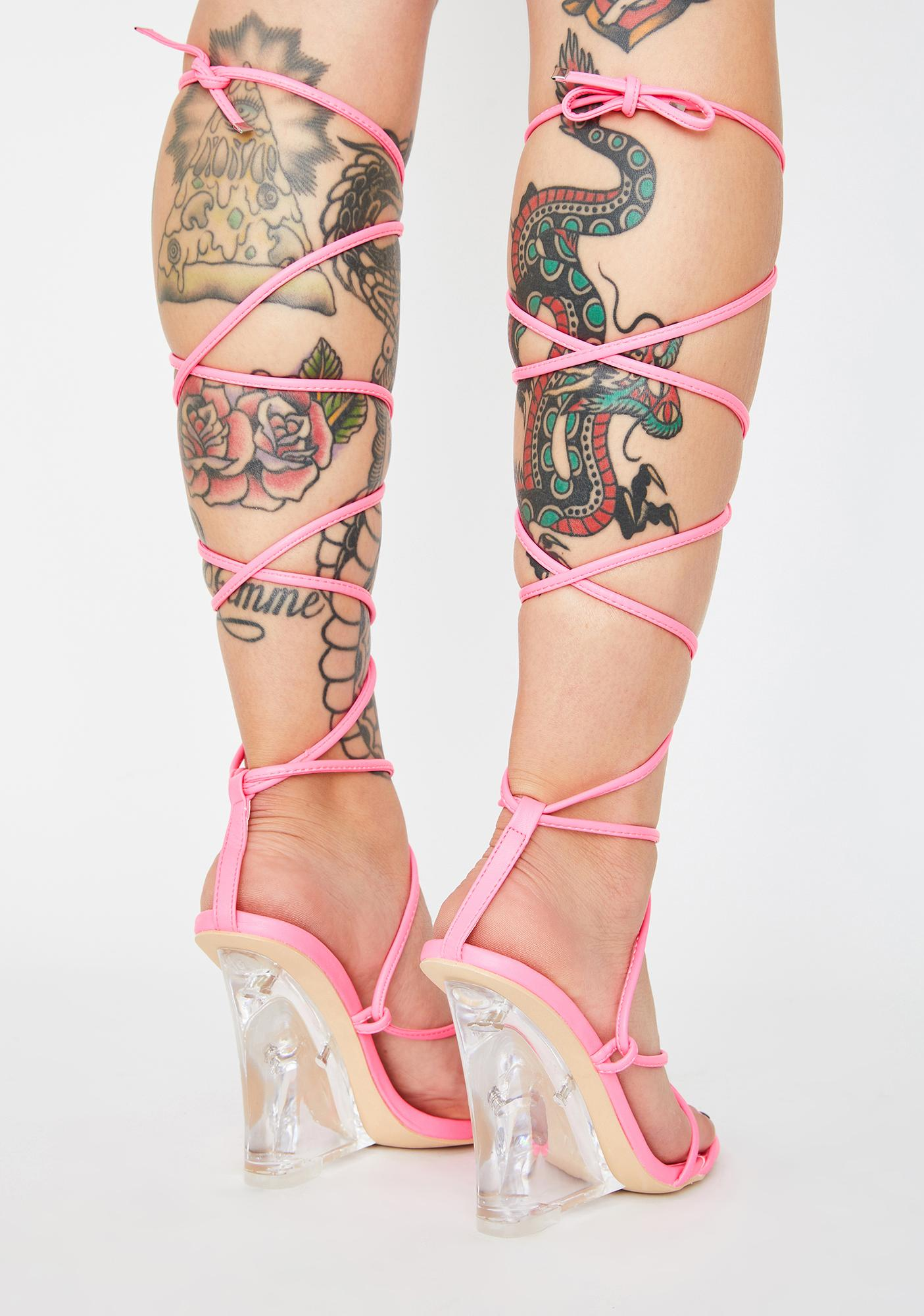 Fallen For You Lace-Up Heels