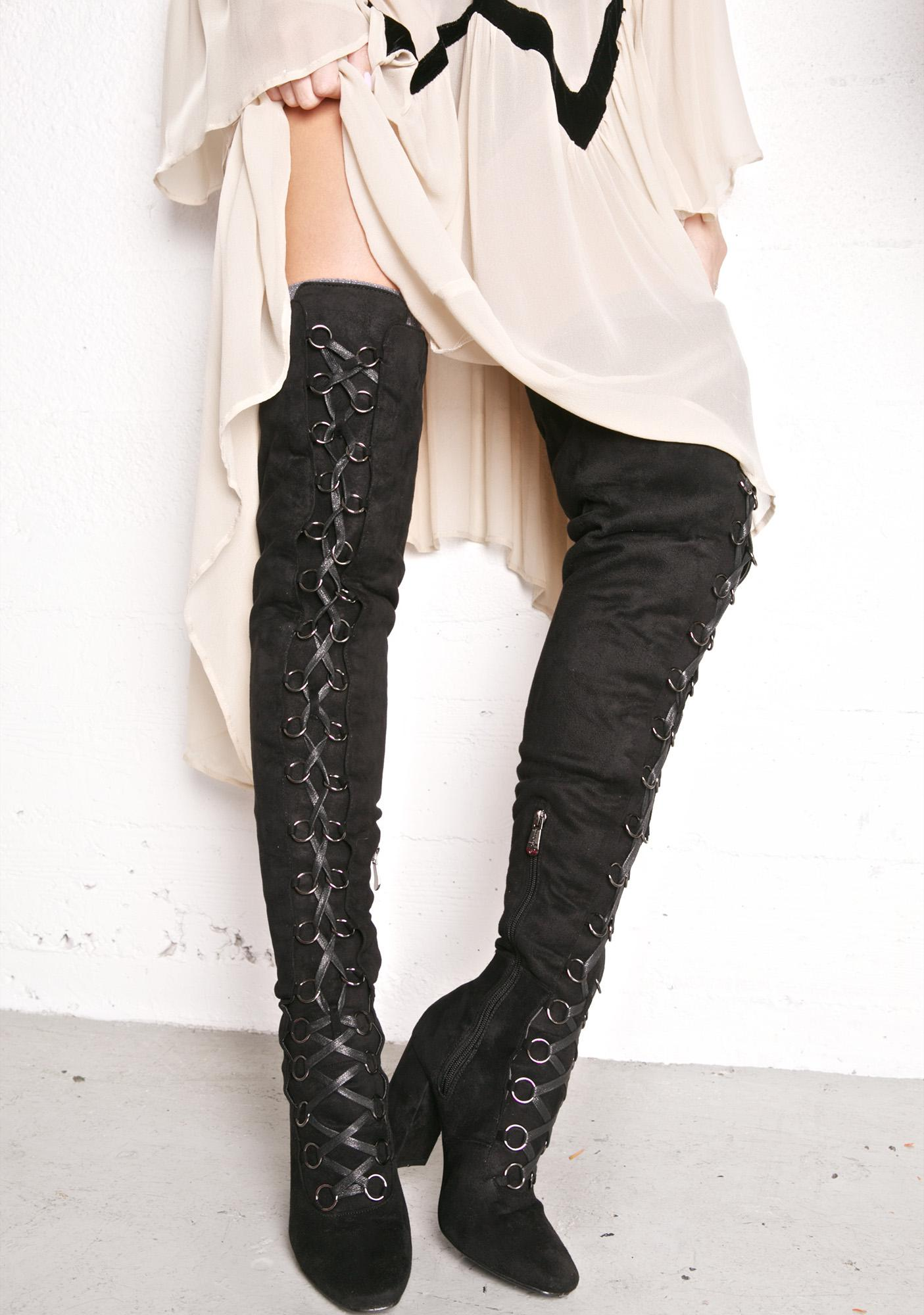 Dark Love Story Thigh-High Boots